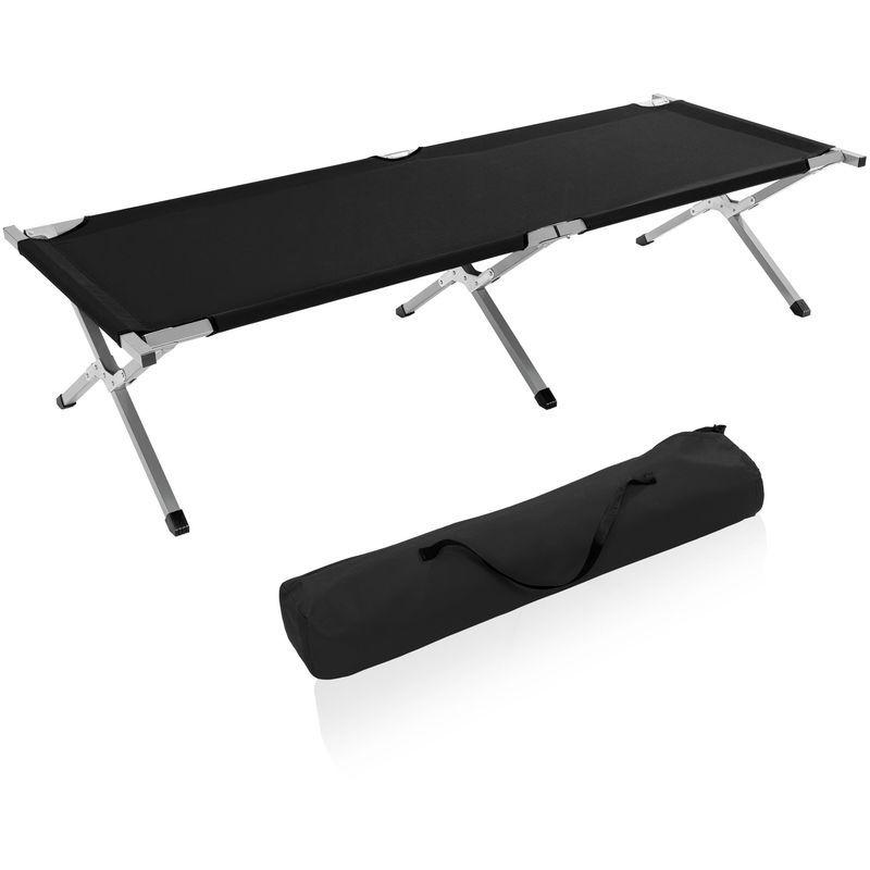 Tresko Xxl Lit De Camp Pliable Pour Camping Noir 190 X 64 X 44 Cm Tubes Metalliques Charge Maximal 150kg Outdoor Decor Sun Lounger Outdoor Furniture