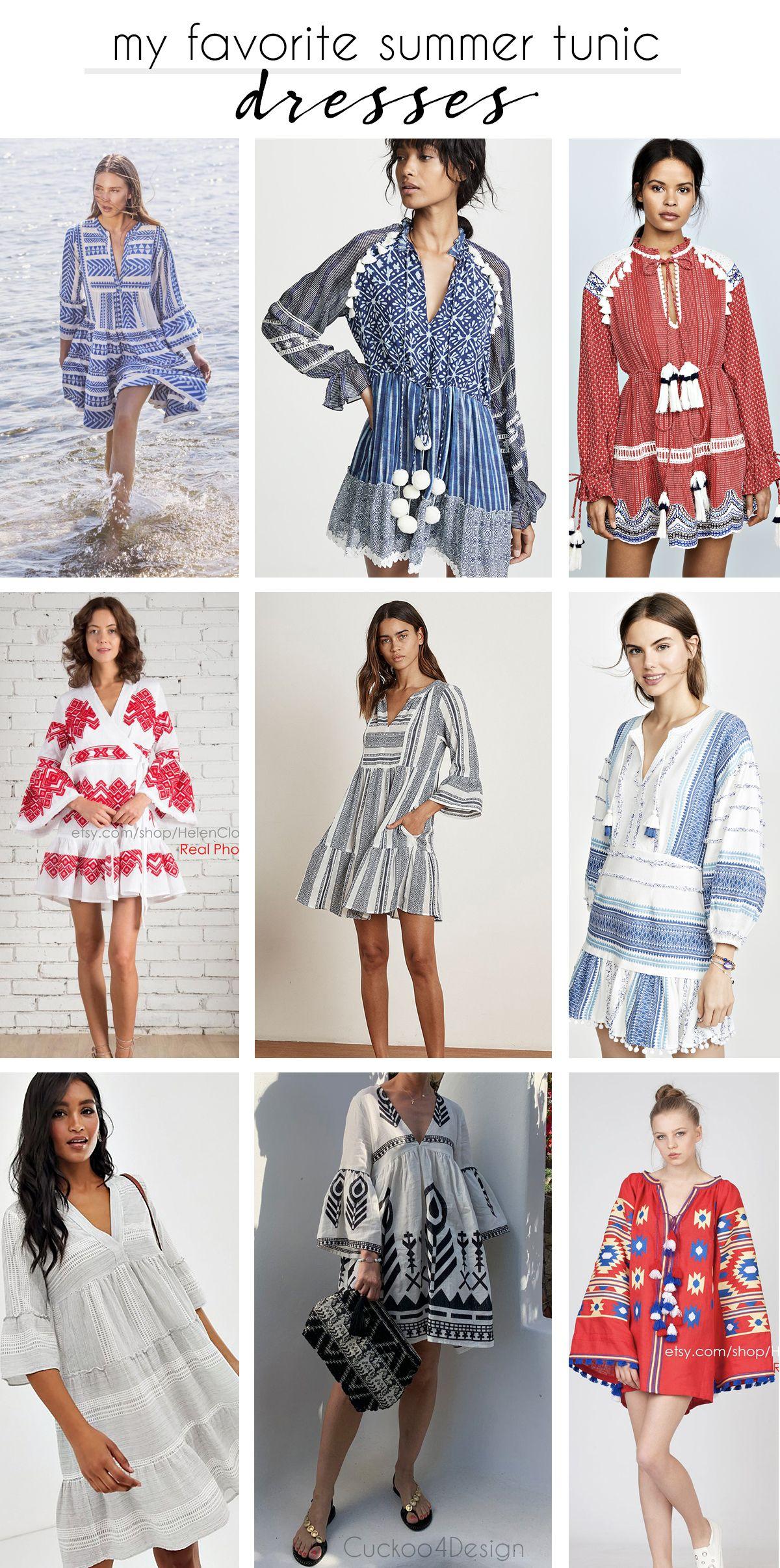 My Favorite Tunic Dresses Summer Tunic Dress Summer Tunics Tunic Dress [ 2411 x 1200 Pixel ]
