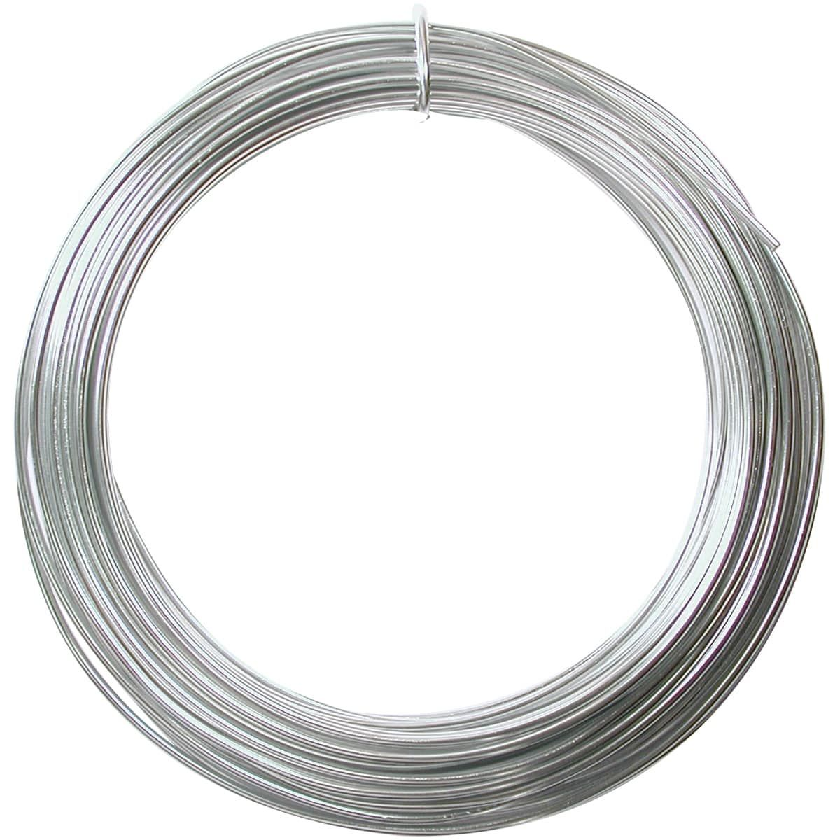 Beadsmith Aluminum Wire 12 Gauge 39\' Coil-Silver - Silver | Gauges ...