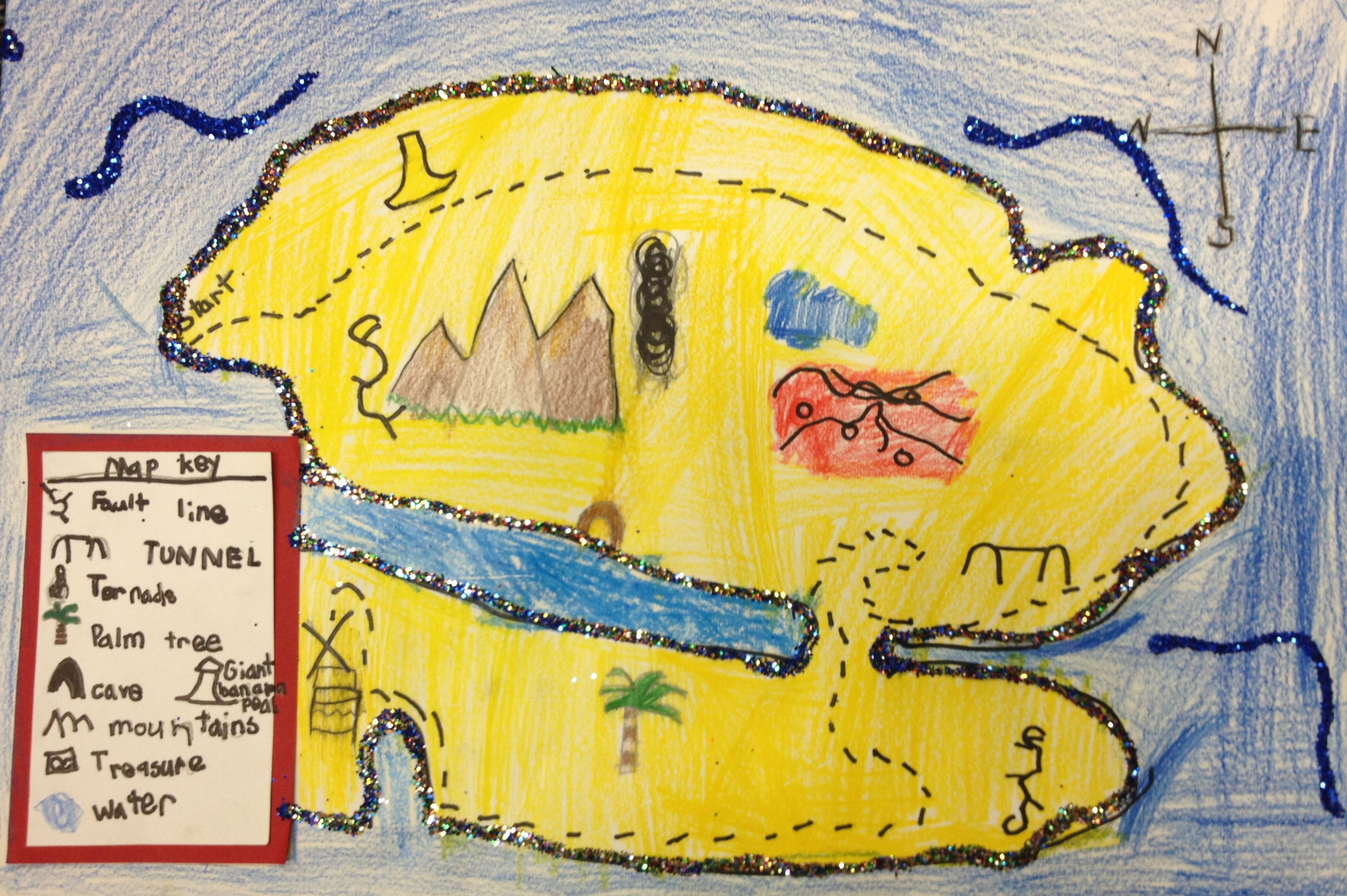 Mrs Burton S 1st Graders Created Treasure Maps With A Map