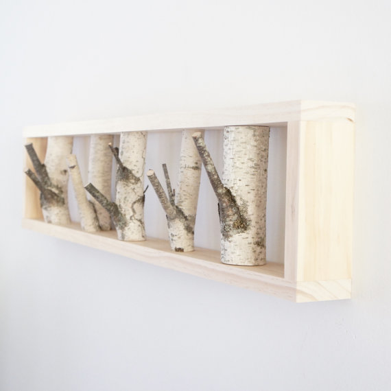 White Birch Forest Wall Art X2f Coat Rack Birch Branch Birch Ideias Bengaleiro Casas