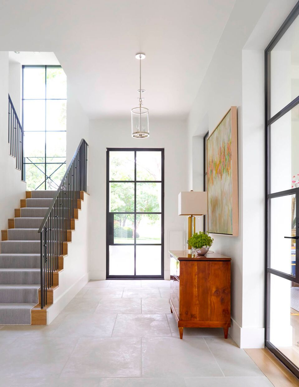 Best Contemporary Entryway Design With Window Paneled Front 400 x 300