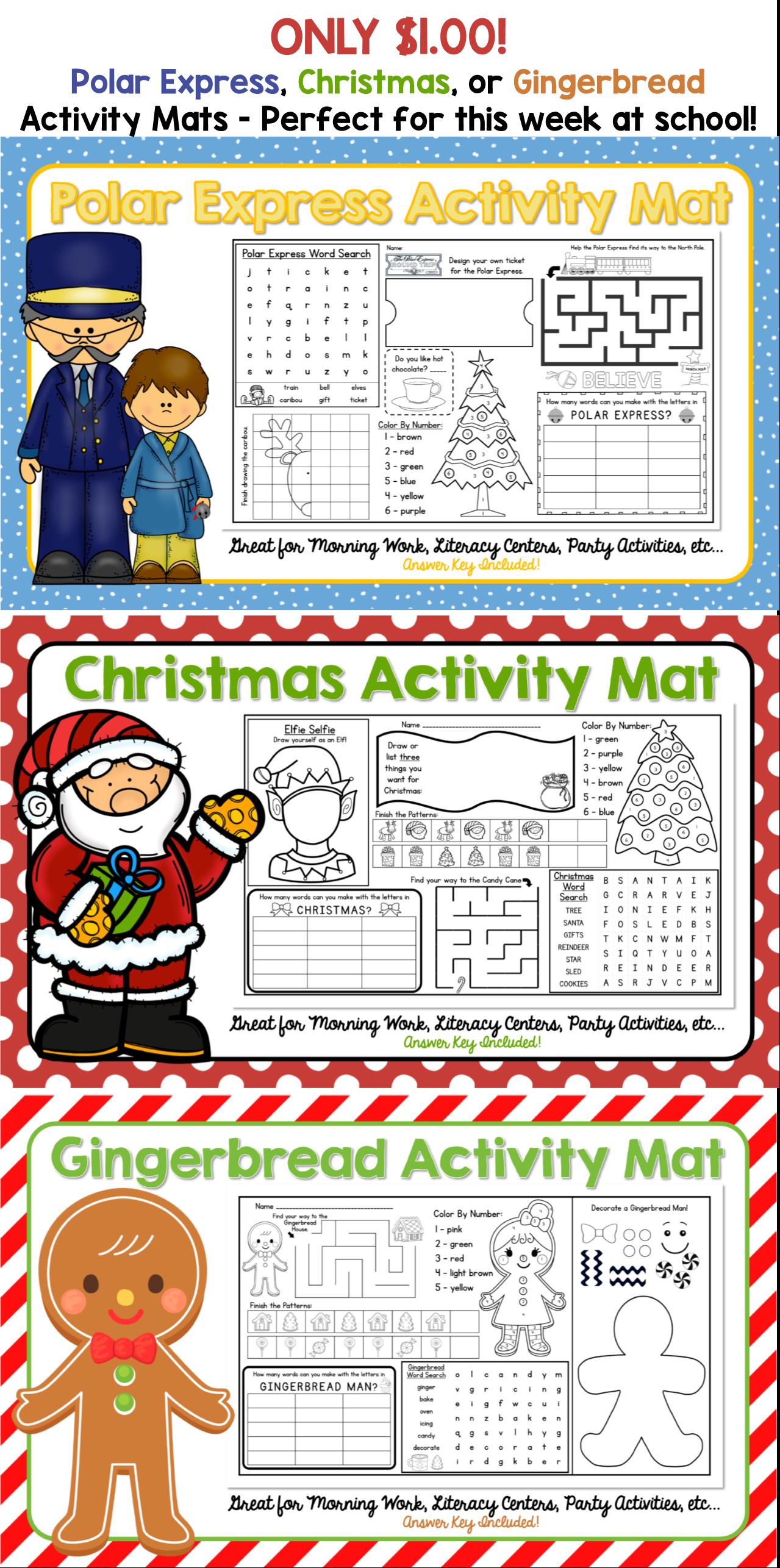 Polar Express Activity Mat