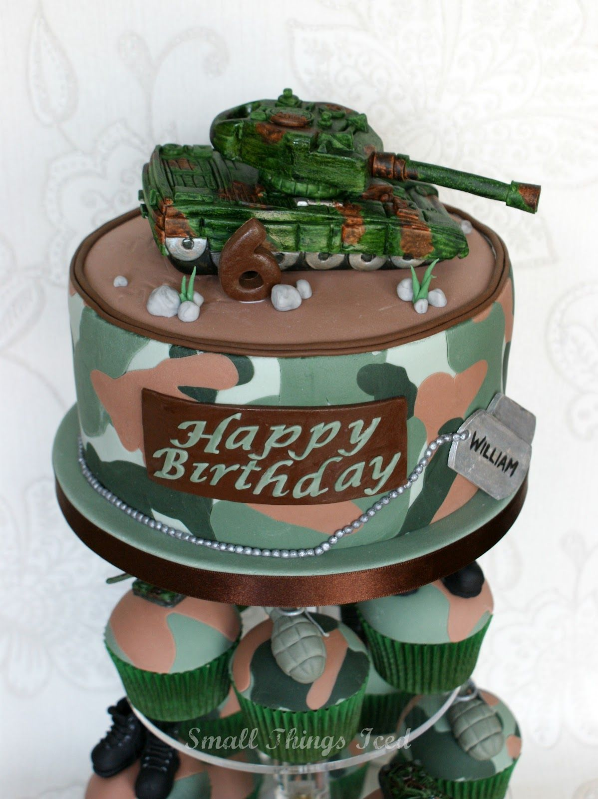 Army Birthday Small Things Iced Army Theme Birthday Tower Army