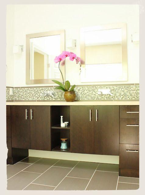 Bathroom Vanity Mosaic Tile Backsplash Design Photo C Kelly