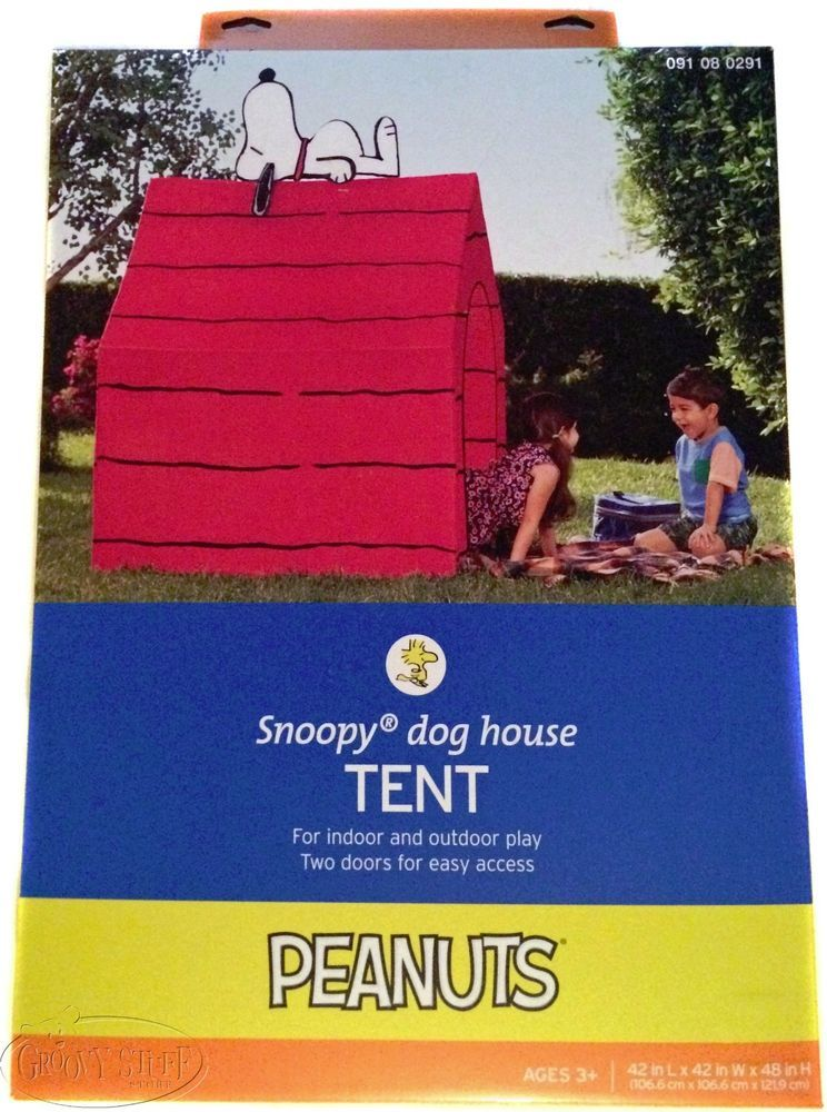 Peanuts Snoopy Dog House Tent Indoor Outdoor Play Red Large 2