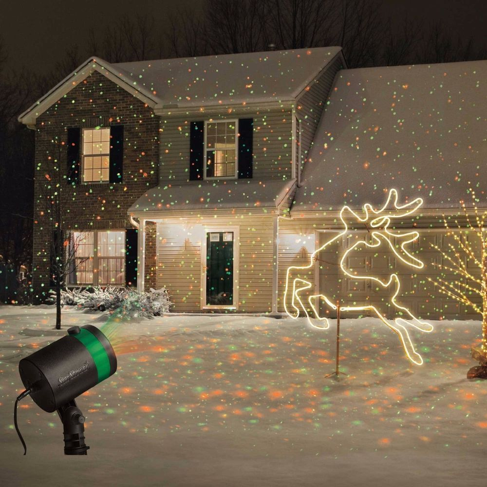 star shower laser light projector outdoor christmas show