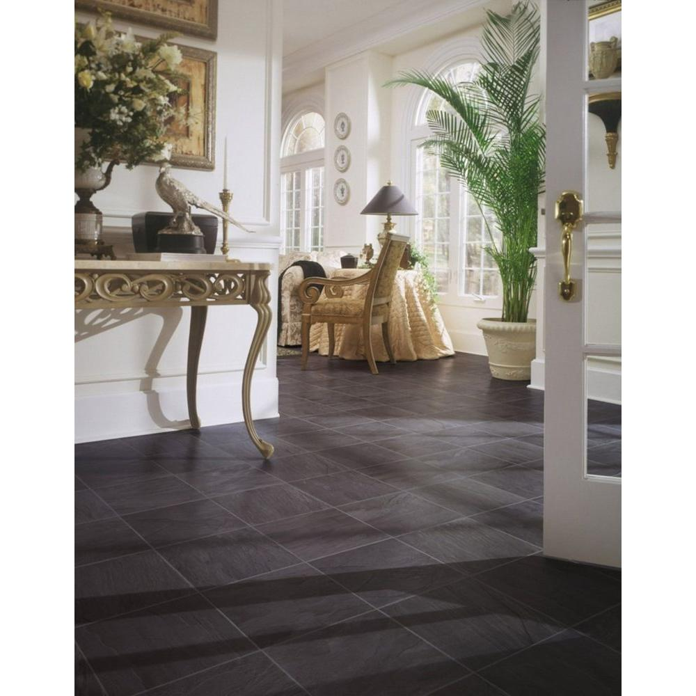 Home Decorators Collection Black Slate 8 mm Thick x 12 in