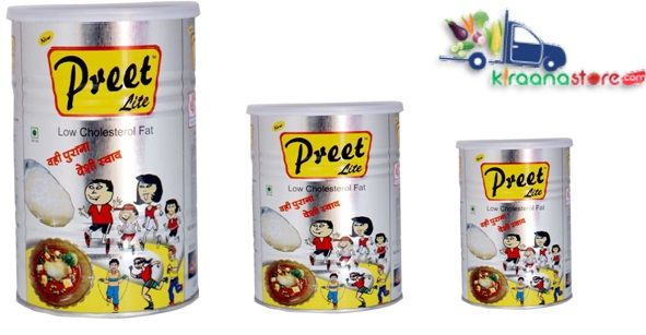 PREET LITE DESI GHEE 1LT TIN from Kiraanastore com Buy online Preet