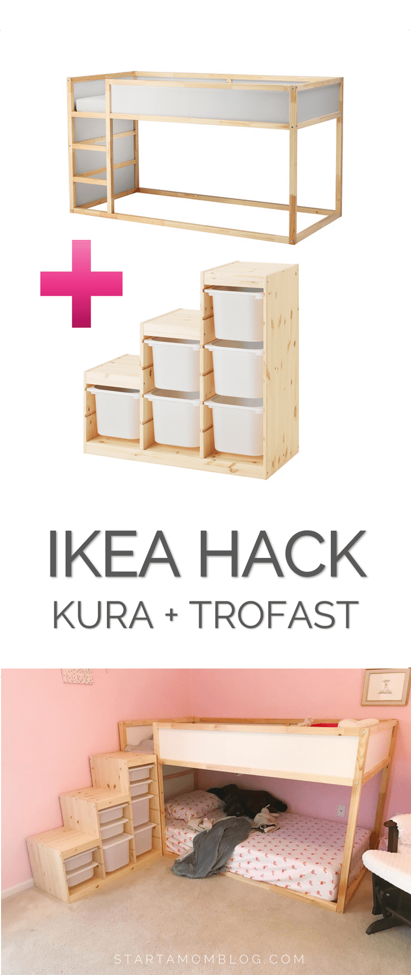Ikea Hack for a Toddler Bunk bed KURA plus TROFAST super