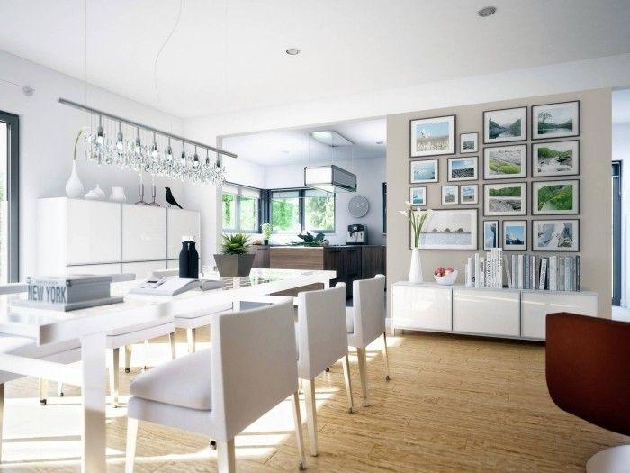 offene küche modern gestalten Küche Möbel - Küchen - Kücheninsel - gardine küche modern