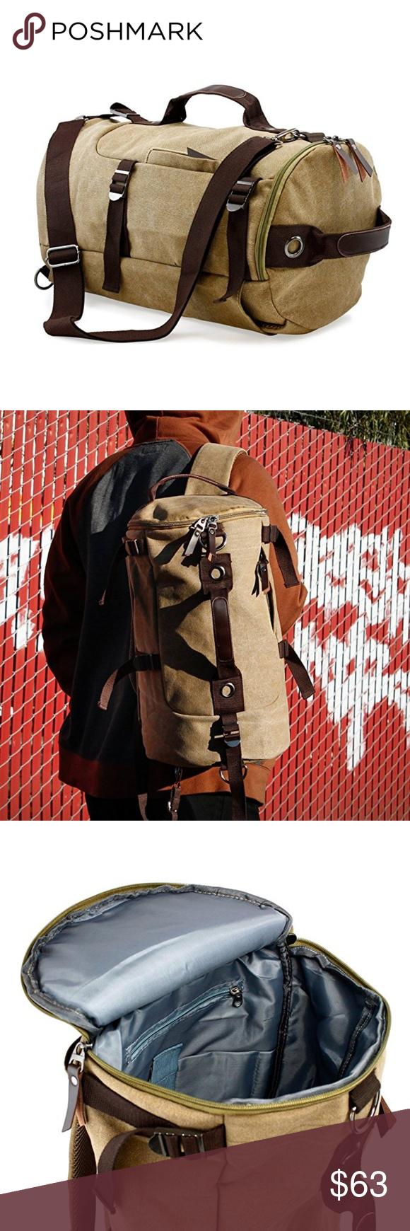 3b0b690da3 Large Duffel Travel Canvas Bag Handbag Backpack Large Duffel Travel Canvas  Bag Handbag Backpack DIMENSION