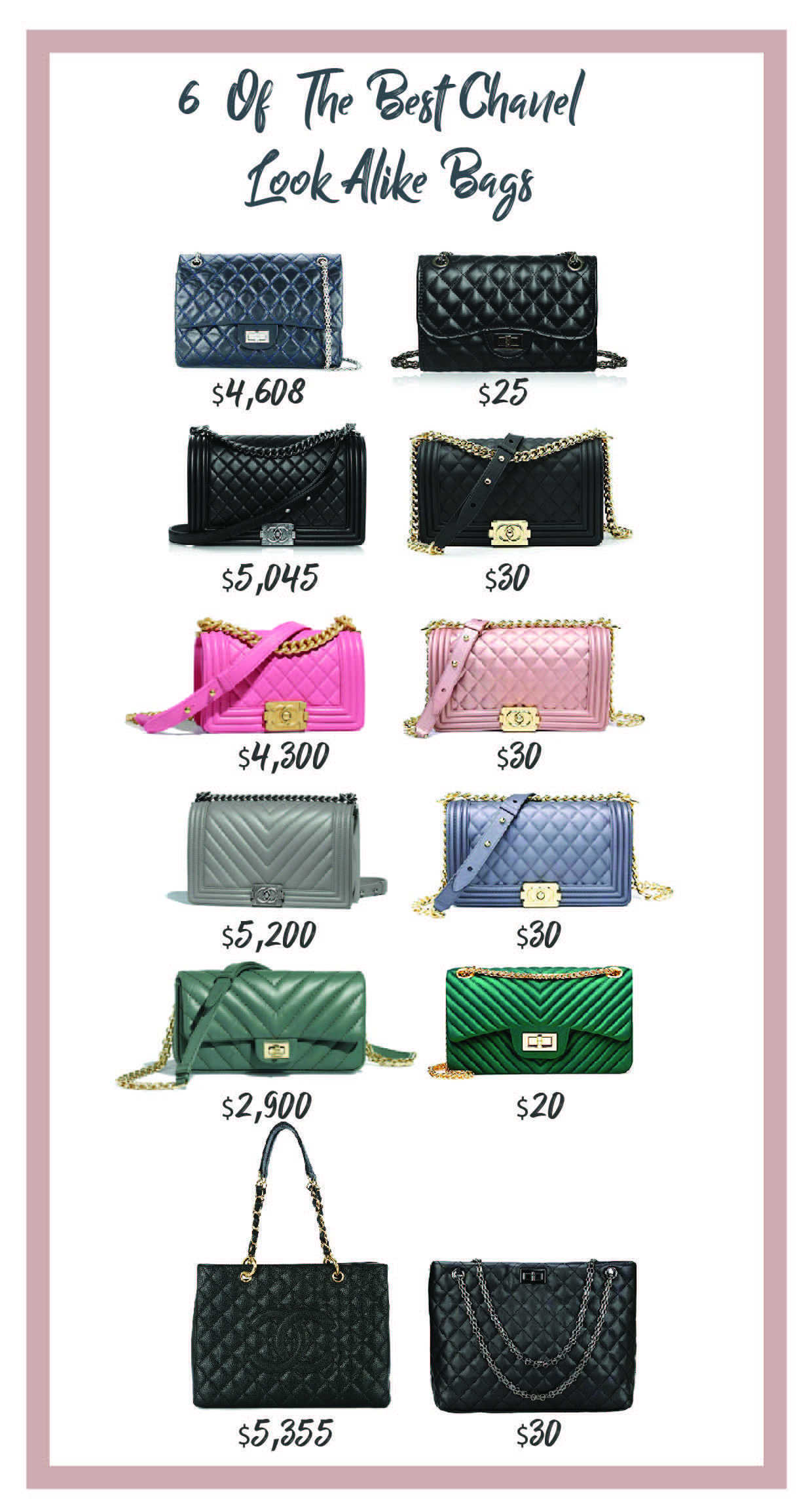 216a49d8d026 6 Of The Best Chanel Look Alike Bags Over The Shoulder Bags, Look Alike,