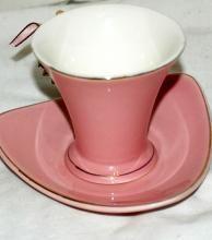 Demitasse Italian Design Ceramics Fine Porcelain Triangle Saucer