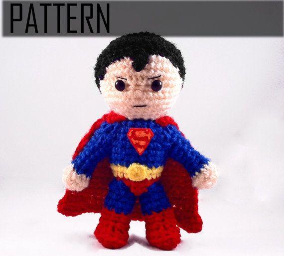 PDF CROCHET PATTERN Chibi Superman Inspired amigurumi | Super Heroes ...