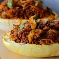 Spaghetti Squash Casserole in the Shell #myallrecipes #allrecipesallstars #allrecipesfaceless #allrecipesimadeit