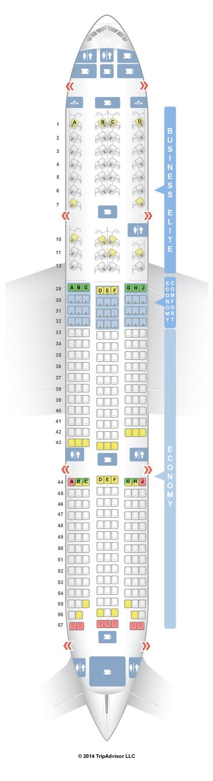 SeatGuru Seat Map Delta Boeing 777-200ER/LR (77L) | Civil And ... on