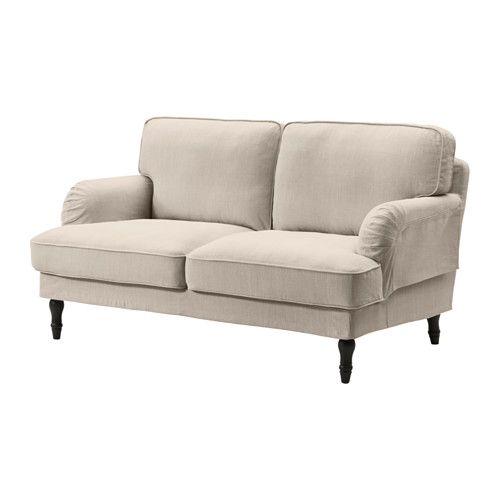 STOCKSUND 2:n istuttava sohva - musta, Nolhaga vaalea beige - IKEA