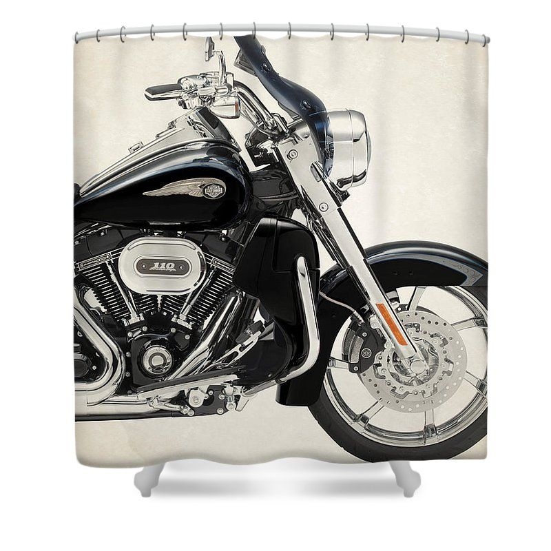 Harley Davidson Cvo Road King 2013b Shower Curtain For Sale By Stephanie Hamilton Harley Davidson Cvo Classic Harley Davidson Harley