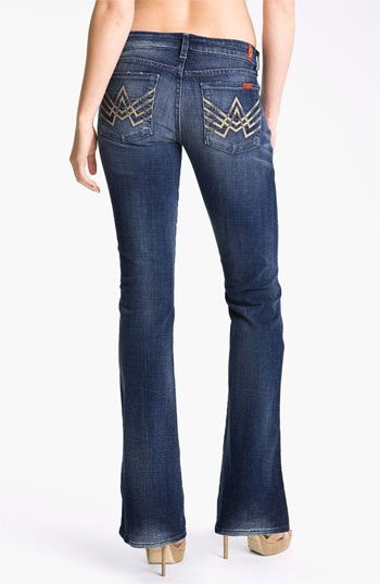7 For All Mankind® 'A-Pocket' Bootcut Stretch Jeans (Brushed Desert Wind) available at #Nordstrom