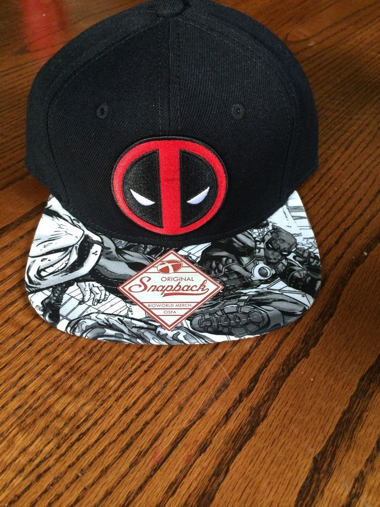 best value 80eb9 257ea Marvel Deadpool Logo Hat NWT Original Snapback - One Size Fits All