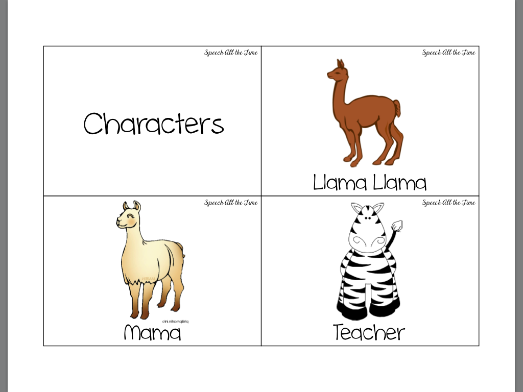 Getting Speechie With A Good Book Llama Llama Misses