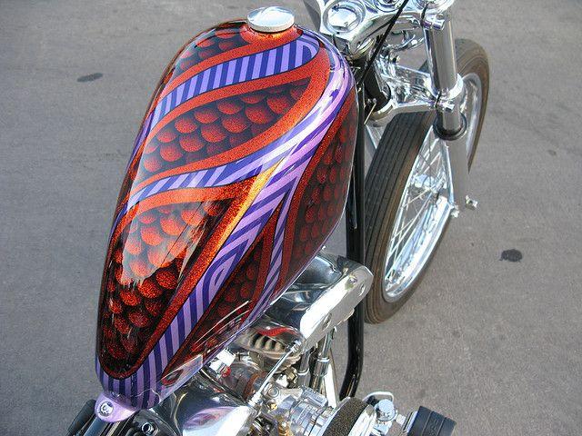 Old School Bobber | Paint Jobs | Custom paint motorcycle