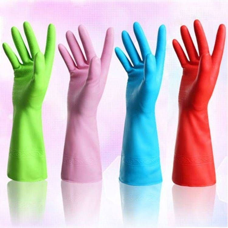 Waterproof Durable Rubber Gloves Household Kitchen Home Cleaning Washing Glove