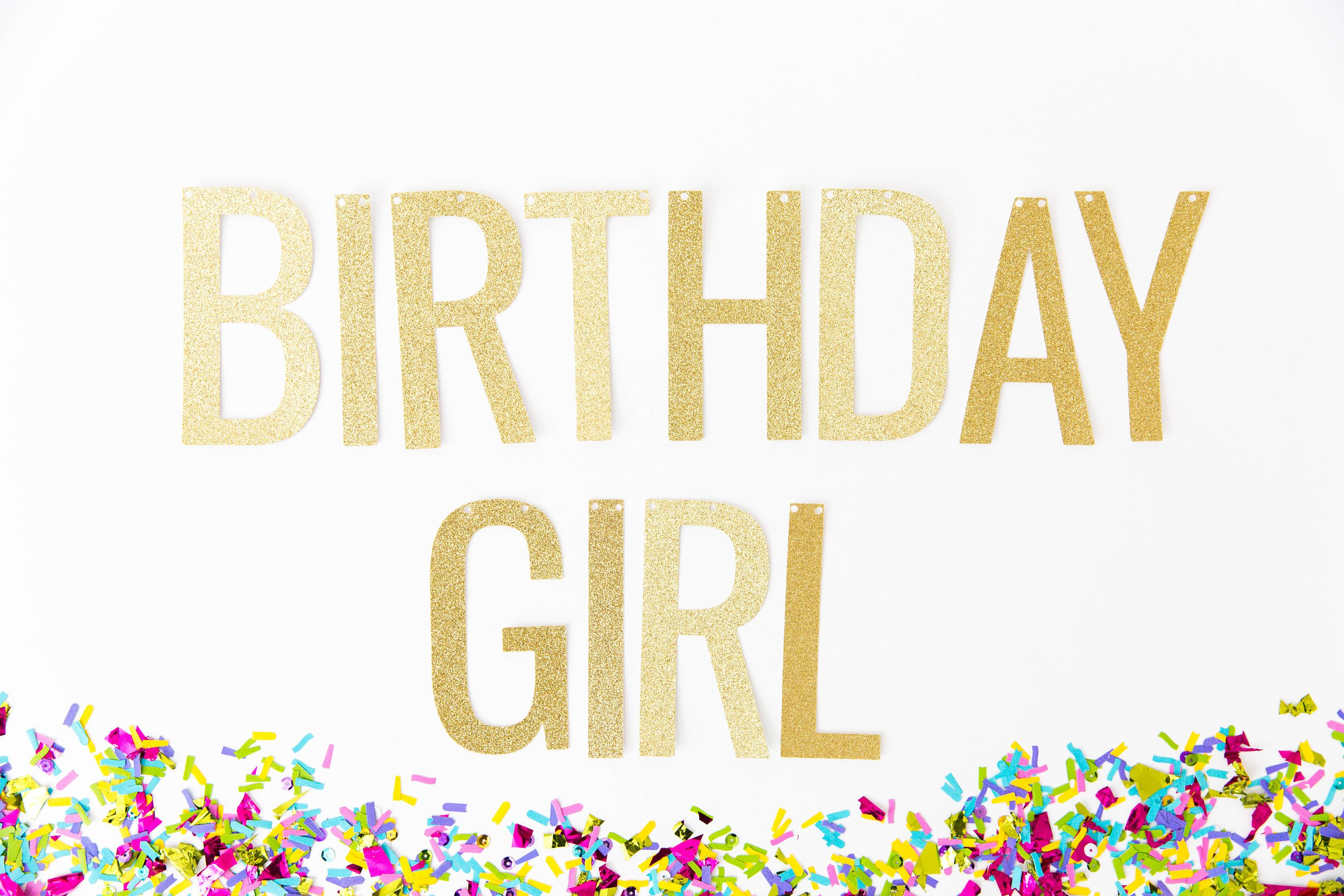 birthday girl banner birthday banner 1st birthday banner