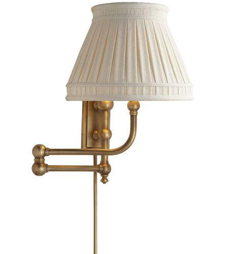 Visual Comfort Chd2154ab Lcc E F Chapman Pimlico 25 Inch 60 Watt Antique Burnished Brass Swing Arm Wall Light In Linen Visual Comfort Lighting Swing Arm Wall Light Light Fixtures