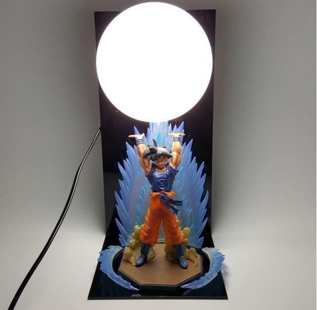 Dragon Ball Genki Dama Spirit Bomb Goku Bedside Lamp Saiyan Stuff Dragon Ball Z Dragon Ball Dragon Ball Goku