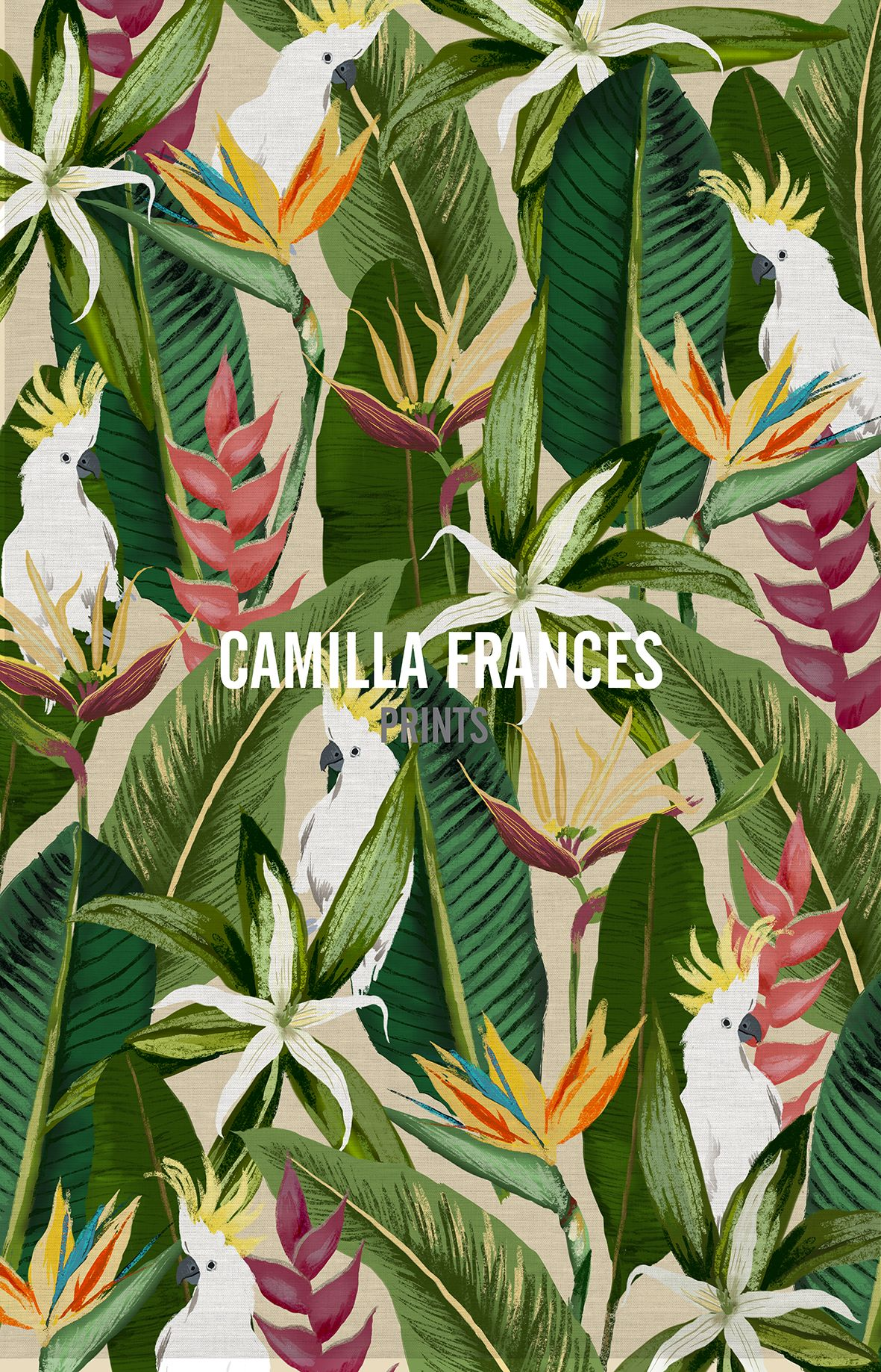 Tropical camilla frances prints i love it for Childrens jungle print fabric