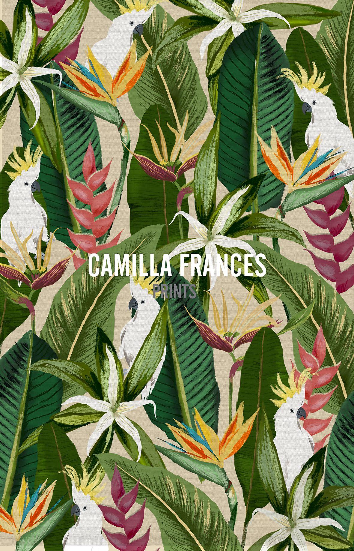 Tropical camilla frances prints i love it for Childrens jungle print fabric