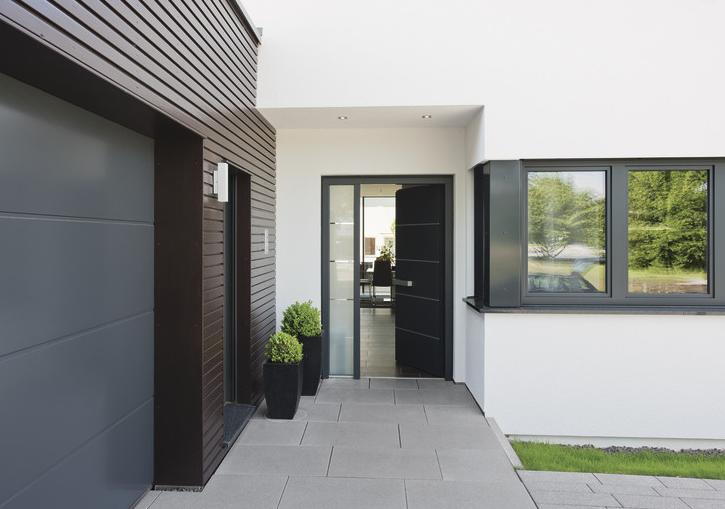 Eingangsbereich außen modern bungalow  bungalow #groundlevel #ebenerdig Inviting entrance. Willkommen ...