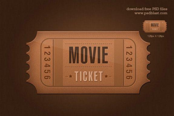 Movie Ticket Template Free Download Ticket Template 06 Beautiful Collection Of Ticket Template  Day 4 .
