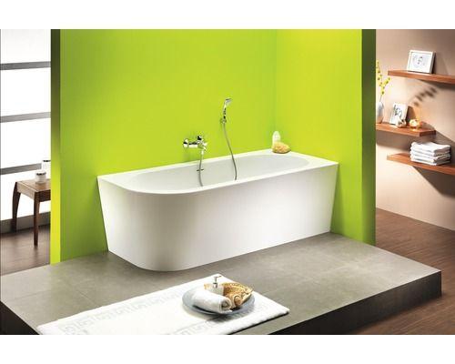 Freistehende Badewanne Messina Corner 178x78 cm weiß links - freistehende badewanne