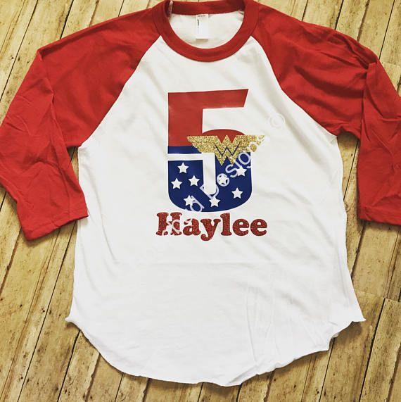Wonder Woman Inspired Birthday Shirt With Name