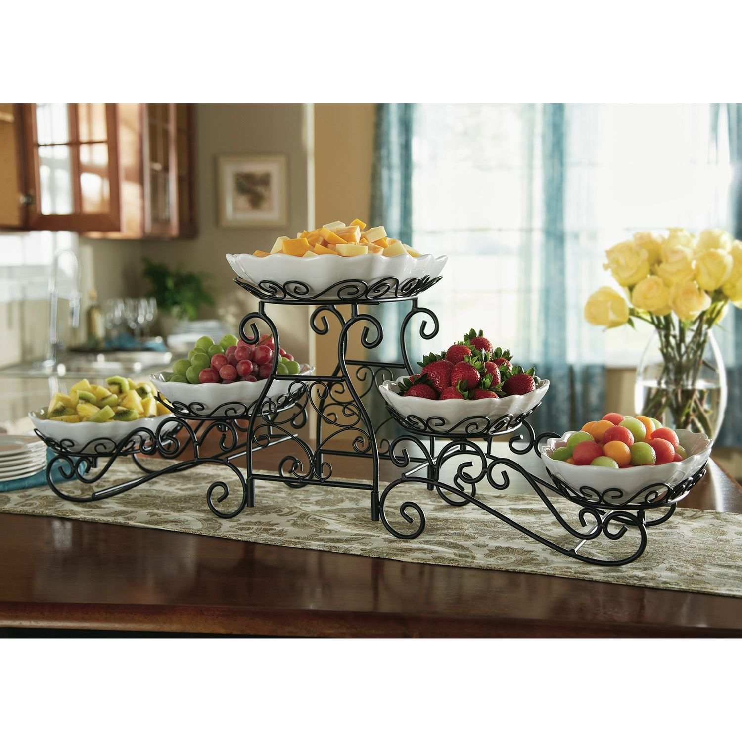 Tiered Buffet Server Kitchen Gadgets And Serving Dishes Decor Buffet Server Wrought Iron Decor