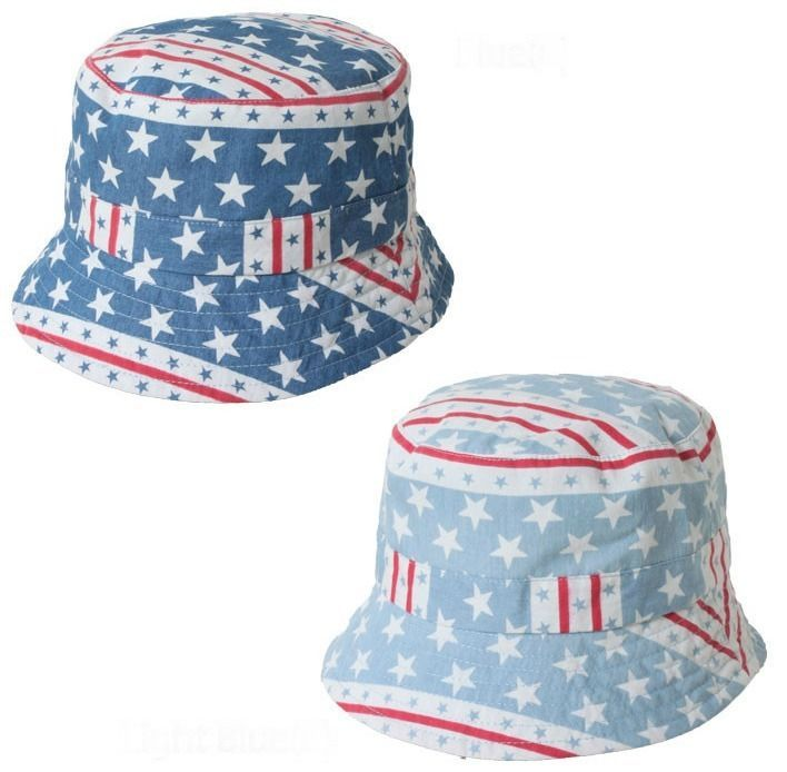 dce34028eac Stars and Stripes Boonie Bucket Hat L XL Men s Urban Pipeline Patriotic Flag