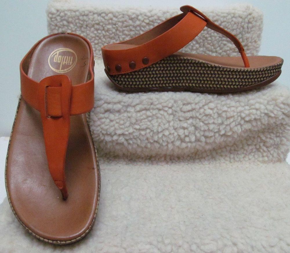 5dd82e939 NEW FitFlop Ibiza Sunbaked Orange Sandals   Size 5 US