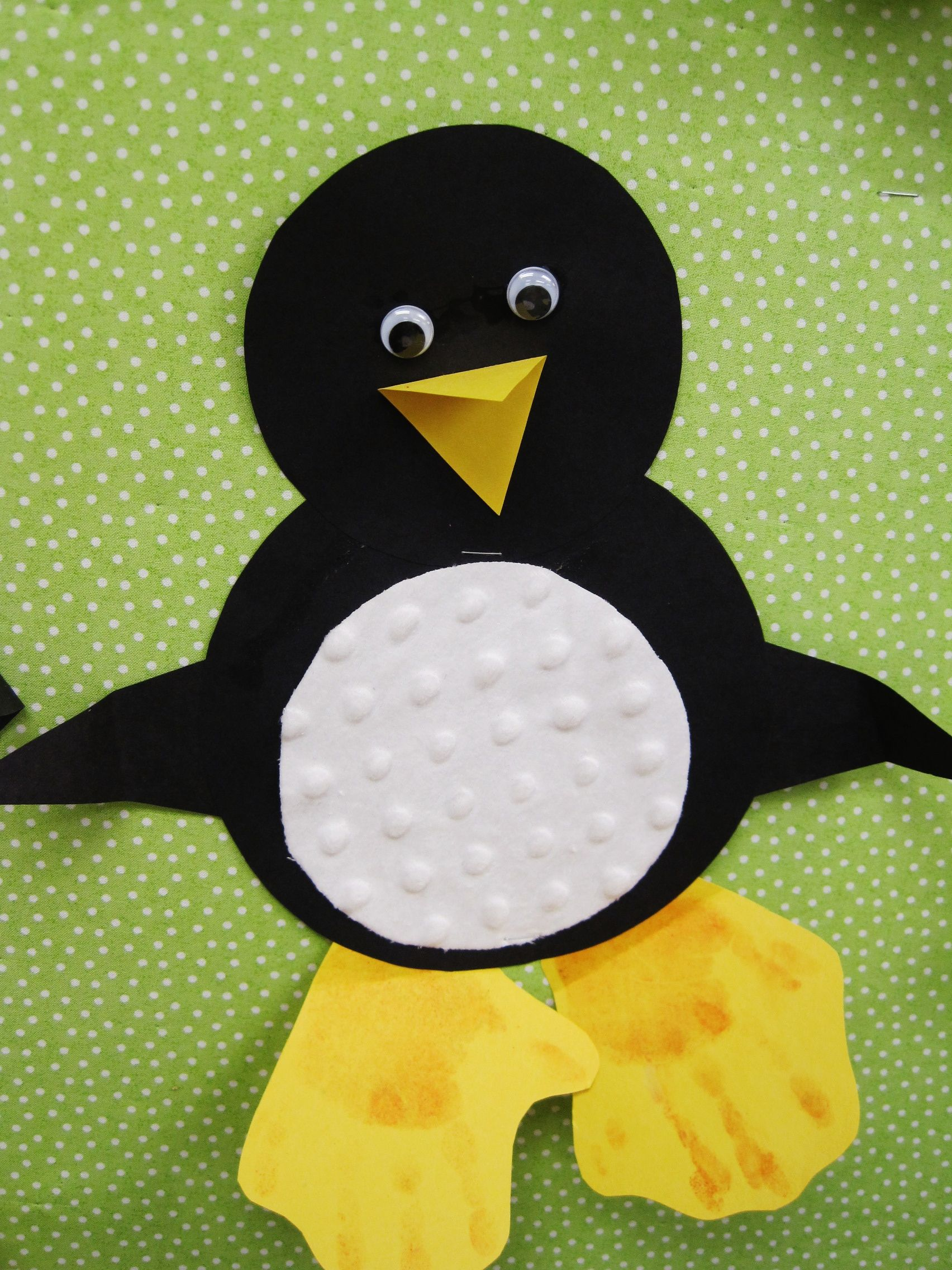 Shapes Penguin With Hand Print Feet