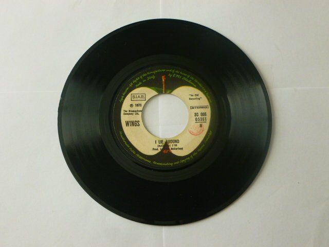 Vintage Vinyl Wings Live And Let Die I Lie Around 7 Quot 45rpm