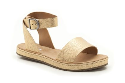 3596a873d00 Romantic Moon in Gold Metallic from Clarks shoes Clarks Sandals