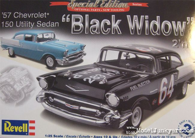1/25 Revell – 1957 Chevy 150 Utility Sedan & BlackWidow Race Car