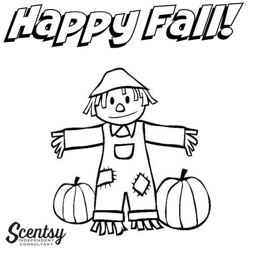 Happy Fall Coloring Page To Hand Out At Events Or Parties