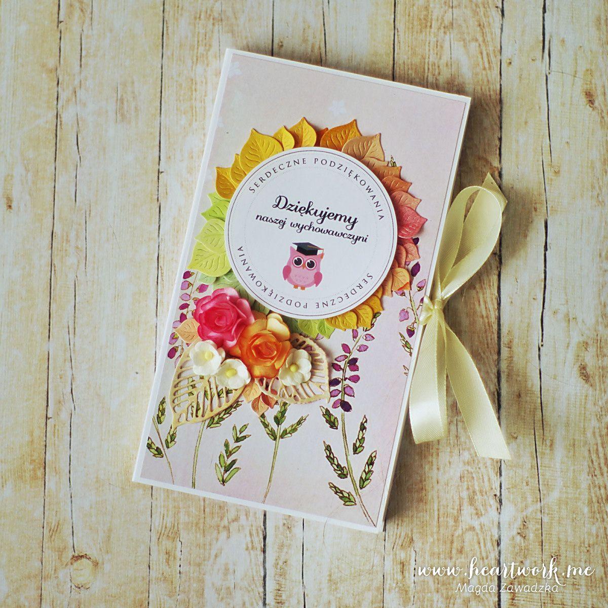 Czekoladownik Kartka Na Dzien Nauczyciela Heartwork Paper Cards Cards Paper