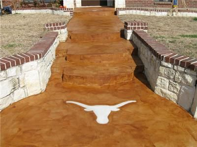 Overlay Cola Concrete Walkways JZS Decorative Concrete The