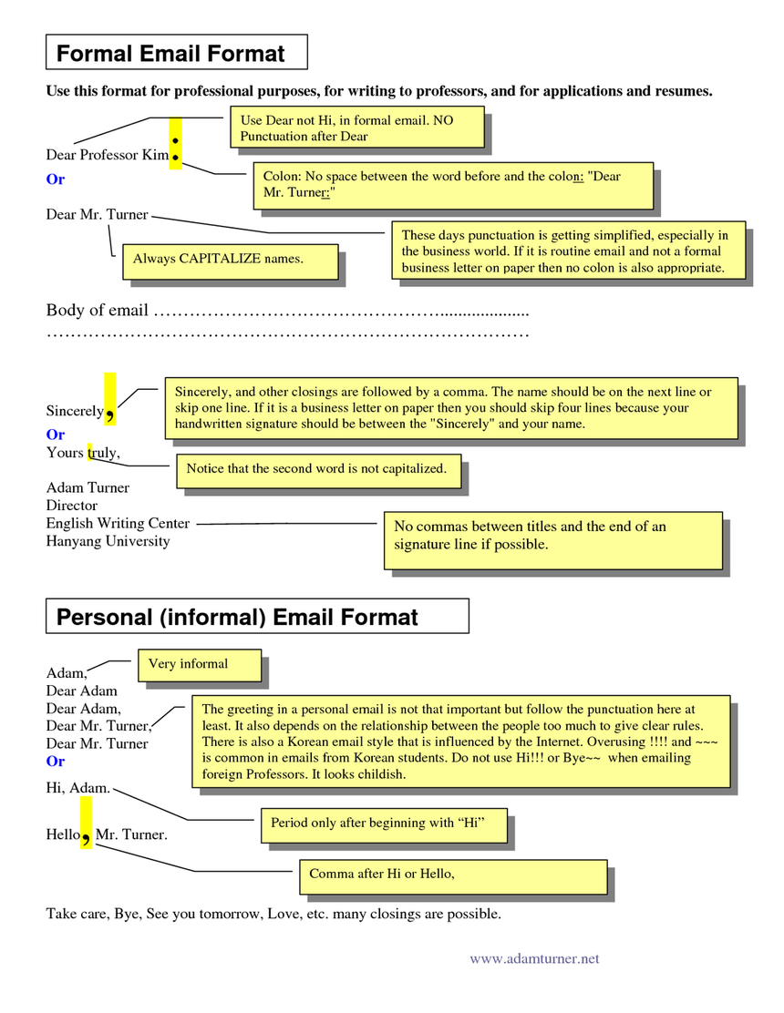 Formal Email Format Image Courtesy Of Docstopcom Writing