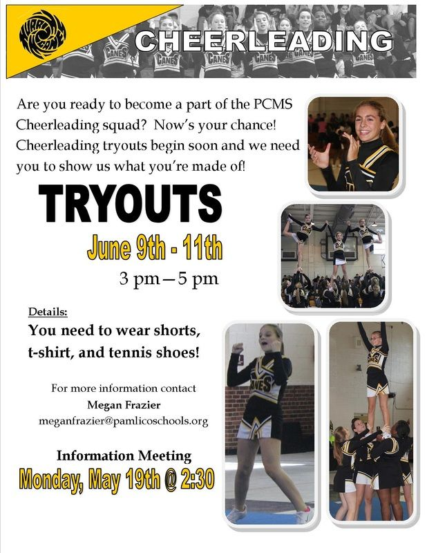 Cheerleading Tryouts Publisher Flyer Free And Edit