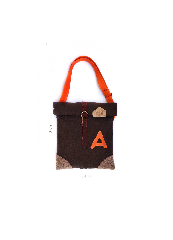 medium bag brown monogram bag initial bag a letter waterproof